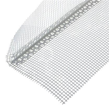 Угол перфорированный ПВХ с сеткой 100х150x3000 мм