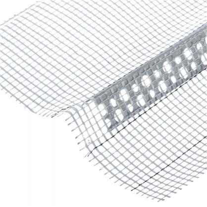 Угол ПВХ с сеткой 80х120x2500 мм