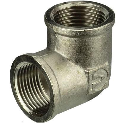 Угол Valtec внутренняя-внутренняя резьба 1 мм никелированная латунь