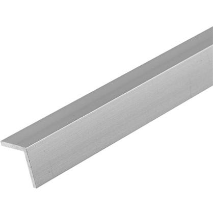 Уголок алюминиевый 20х10х12 мм 1 м цвет серебро