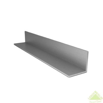Уголок алюминиевый 50х20х2 мм 2 м цвет серебро