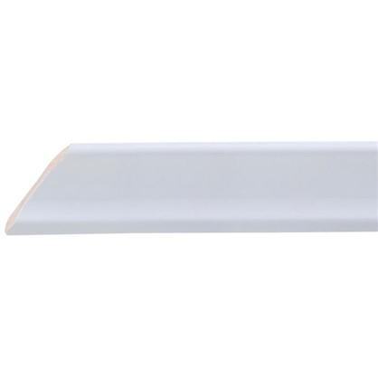 Уголок керамический срез левый 45 градусов 200х34 мм цвет белый