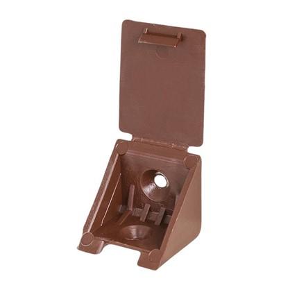 Уголок монтажный 25 мм пластик цвет коричневый 8 шт.