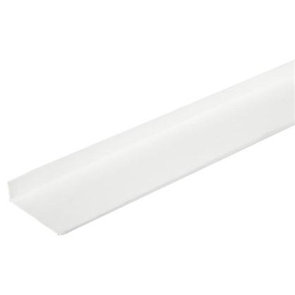 Уголок ПВХ 40x10x2x2000 мм цвет белый