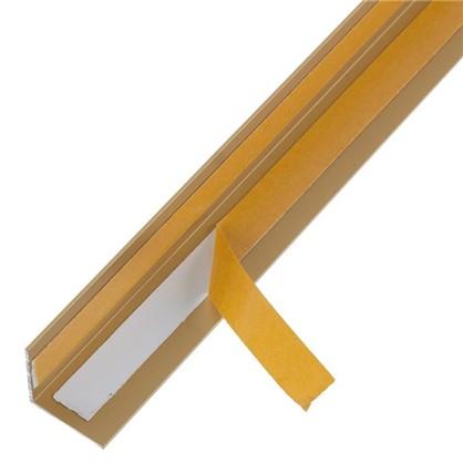 Уголок QuickStick 20x20x1x2000 мм алюминий цвет золото