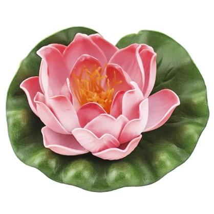 Украшение Лилия 100 мм цвет белый/жёлтый/розовый