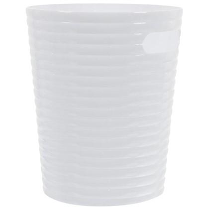 Ведро 6.6 л цвет белый