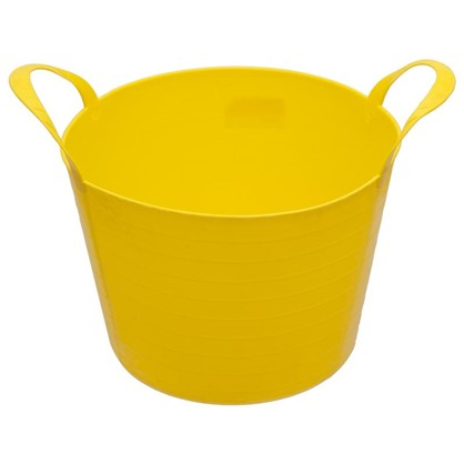 Ведро с ручками гибкое жёлтое 14 л мягкий пластик