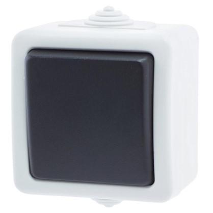 Выключатель Aqua цвет серый IP54