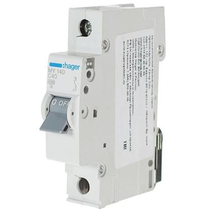 Автоматический выключатель Hager 1 полюс 40 A