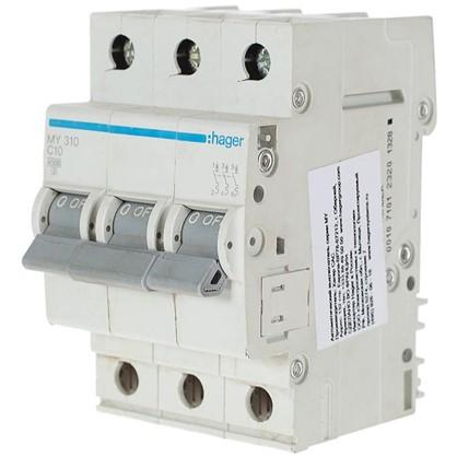 Автоматический выключатель Hager 3 полюса 10 A