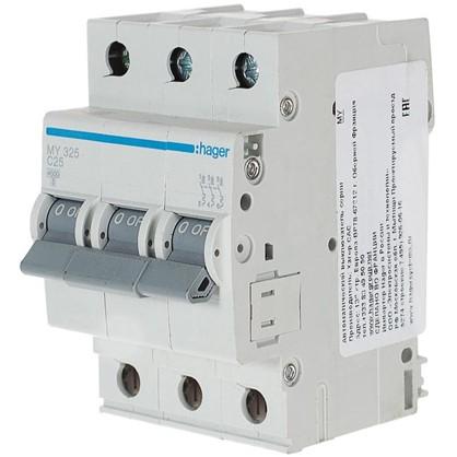 Автоматический выключатель Hager 3 полюса 25 A