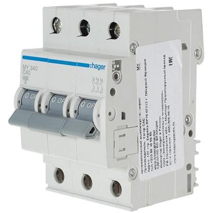 Автоматический выключатель Hager 3 полюса 40 A