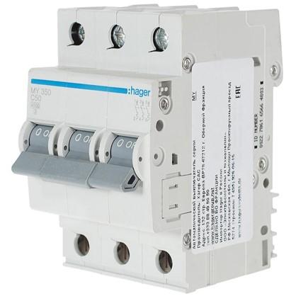 Автоматический выключатель Hager 3 полюса 50 A