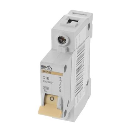 Автоматический выключатель IEK Home В А47-29 1 полюс 10 А
