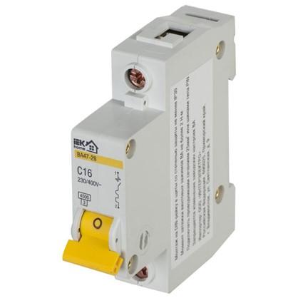 Автоматический выключатель IEK Home В А47-29 1 полюс 16 А