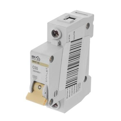 Автоматический выключатель IEK Home В А47-29 1 полюс 50 А