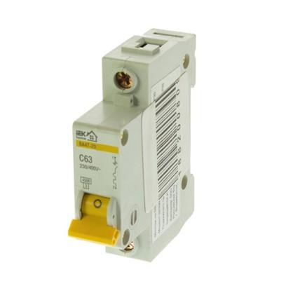 Автоматический выключатель IEK Home В А47-29 1 полюс 63 А