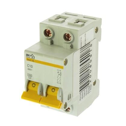 Автоматический выключатель IEK Home В А47-29 2 полюса 10 А