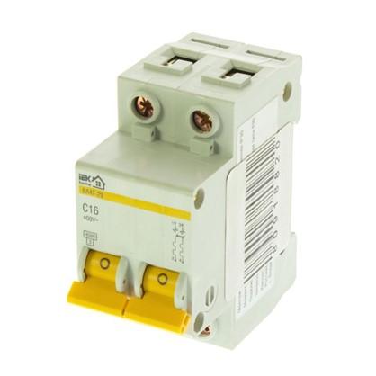 Автоматический выключатель IEK Home В А47-29 2 полюса 16 А