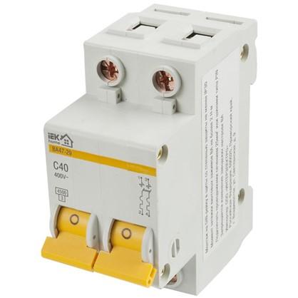 Автоматический выключатель IEK Home В А47-29 2 полюса 40 А