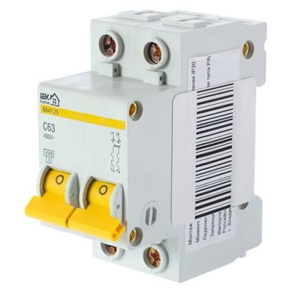 Автоматический выключатель IEK Home В А47-29 2 полюса 63 А