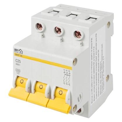 Автоматический выключатель IEK Home В А47-29 3 полюса 25 А