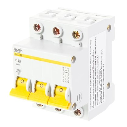 Автоматический выключатель IEK Home В А47-29 3 полюса 40 А