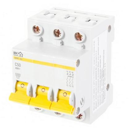 Автоматический выключатель IEK Home В А47-29 3 полюса 50 А