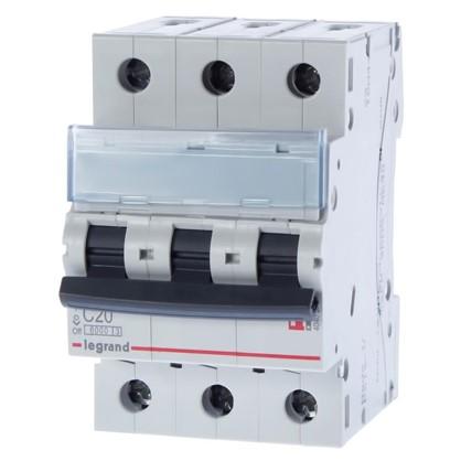 Автоматический выключатель Legrand 3 полюса 20 А