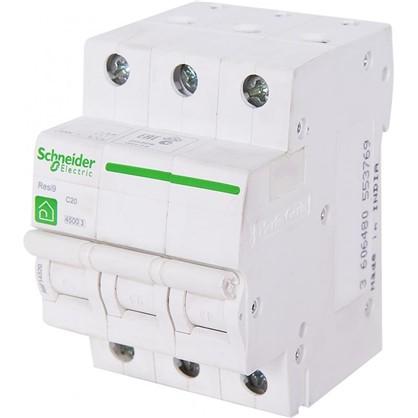 Автоматический выключатель Schneider Electric Resi9 3 полюса 20 A