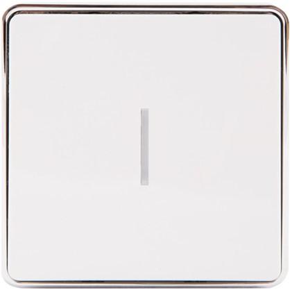 Выключатель Gallant с подсветкой 1 клавиша цвет белый