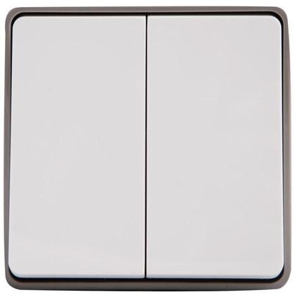 Выключатель Gallant влагозащищённый 2 клавиши цвет белый