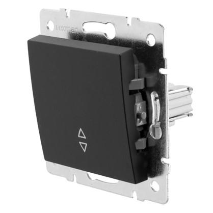 Выключатель проходной Lexman Виктория 1 клавиша цвет черный бархат матовый