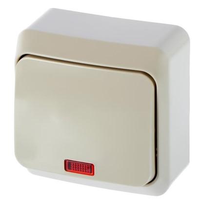 Выключатель Schneider Electric Этюд 1 клавиша с подсветкой цвет кремовый