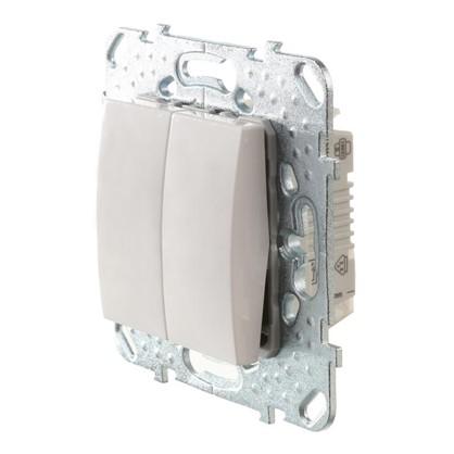 Выключатель Schneider Electric Unica 2 клавиши белый