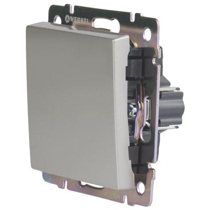 Выключатель Werkel 1 клавиша цвет серебро