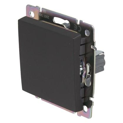 Выключатель Werkel 1 клавиша проходной цвет черный