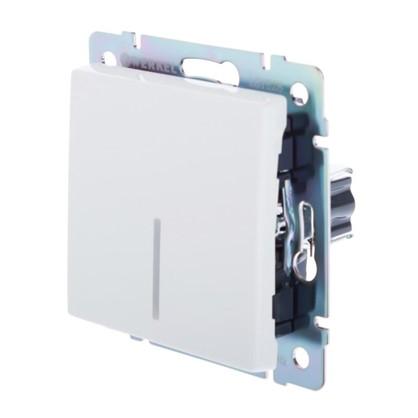 Выключатель Werkel 1 клавиша с подсветкой цвет белый