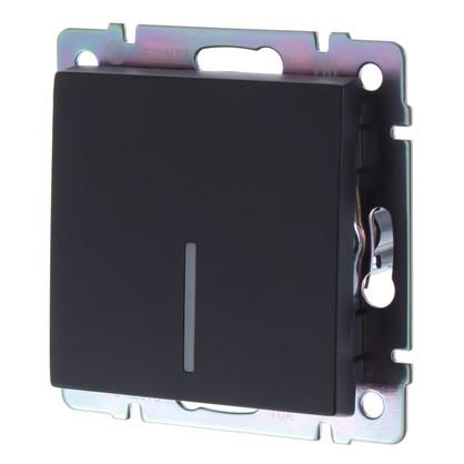 Выключатель Werkel 1 клавиша с подсветкой цвет черный