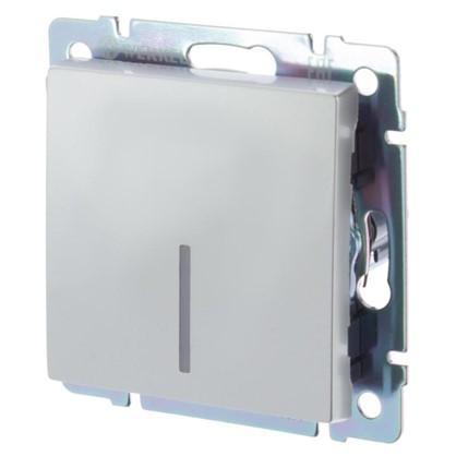 Выключатель Werkel 1 клавиша с подсветкой цвет серебро
