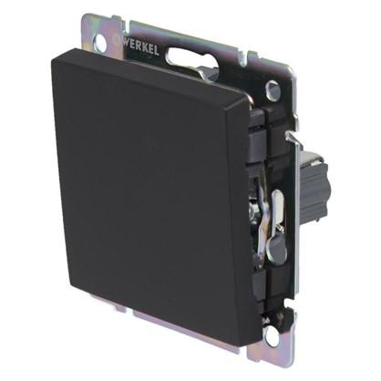 Выключатель Werkel 1 клавиши цвет черный