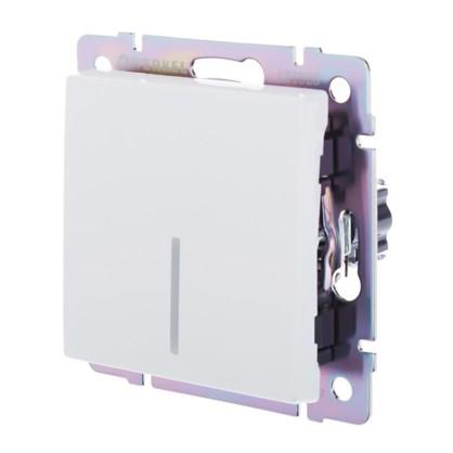 Выключатель Werkel 1 клавиши с подсветкой проходной цвет белый