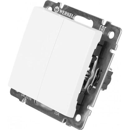 Выключатель Werkel 2 клавиши проходной цвет белый