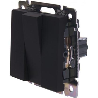 Выключатель WL08-SW-3G 3 клавиши цвет чёрный матовый