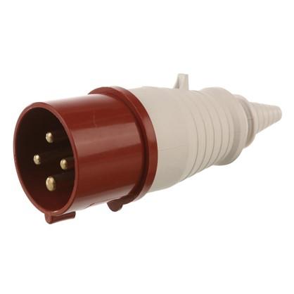 Вилка с заземлением IEK 380 В цвет