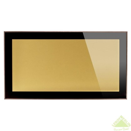 Витрина бронзовая 90х35 см алюминий/метакрил цвет коричневый