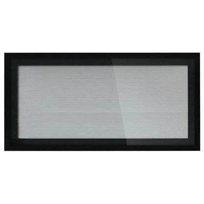 Витрина для шкафа Лайн 60x35 см алюминий/стекло цвет серый