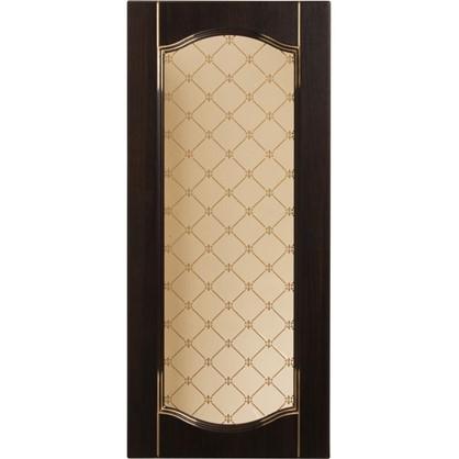 Витрина для шкафа Византия 40х92 см цвет темно-коричневый