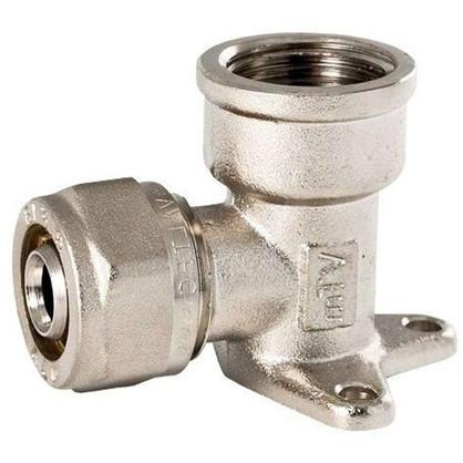 Водорозетка обжимная Valtec 16х1/2 мм никелированная латунь